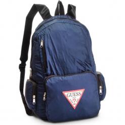 Plecak GUESS - HM6387 NYL81  DARK BLUE. Niebieskie plecaki męskie marki Guess, z aplikacjami, z materiału, sportowe. Za 289,00 zł.
