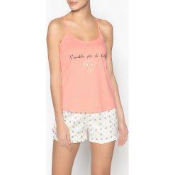Piżamy damskie: Piżama z krótkimi spodenkami z napisem z cekinów
