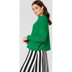 Swetry damskie: MANGO Sweter oversize - Green