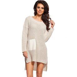 Swetry klasyczne damskie: Sweter w kolorze beżowym