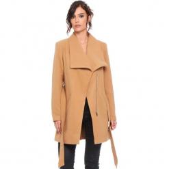 """Płaszcz """"Cindy"""" w kolorze karmelowym. Brązowe płaszcze damskie Cosy Winter, s, w paski, z tkaniny. W wyprzedaży za 227,95 zł."""