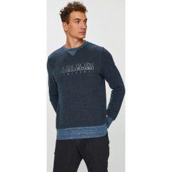 Napapijri - Bluza. Czarne bluzy męskie rozpinane marki Napapijri, l, z nadrukiem, z bawełny, bez kaptura. W wyprzedaży za 349,90 zł.