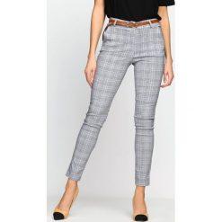 Spodnie damskie: Szaro-Fuksjowe Spodnie Ambiguously