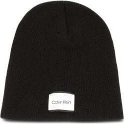 Czapka CALVIN KLEIN - Classic Beanie M K50K504118 001. Czarne czapki męskie marki Calvin Klein, z kaszmiru. Za 179,00 zł.