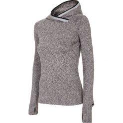 Bluzy rozpinane damskie: Bluza treningowa damska BLDF105 - szary melanż
