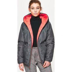 Odzież sportowa damska: Dwustronna kurtka - Pomarańczowy