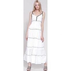 Sukienki hiszpanki: Biała Sukienka Morning Beauty