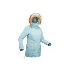 Kurtka turystyczna SH500 ultra-warm damska. Brązowe kurtki damskie zimowe marki QUECHUA, m, z materiału. Za 399,99 zł.