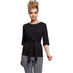 Bluzki asymetryczne: Bluzka z wiązaniem w talii - czarna
