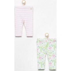 Spodnie niemowlęce: Spodnie 2 pack – Biały