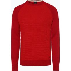 BOSS Casual - Sweter męski – Amicoso, czerwony. Czerwone swetry klasyczne męskie BOSS Casual, m. Za 549,95 zł.