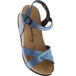 """Rzymianki damskie: Sandały """"Pivoine"""" w kolorze błękitnym"""