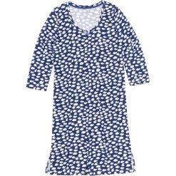 Koszula nocna bonprix szafirowo-biały wzorzysty. Niebieskie koszule nocne i halki bonprix, z bawełny. Za 34,99 zł.