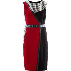 Sukienki hiszpanki: Sukienka patchworkowa bonprix czarno-ciemnoczerwono-biały