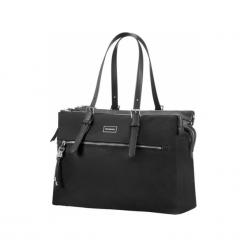 "Samsonite Karissa BIZ 14.1"" czarna. Czarne torby na laptopa marki Samsonite, z materiału. Za 649,00 zł."