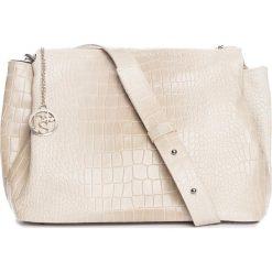 Torebki klasyczne damskie: Skórzana torebka w kolorze beżowym – 30 x 27 x 13 cm