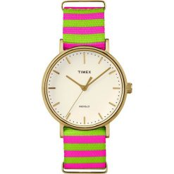 Zegarek Timex Damski TW2P91800 Weekender Fairfield 37 zielono-różowy. Czerwone zegarki damskie Timex. Za 258,99 zł.