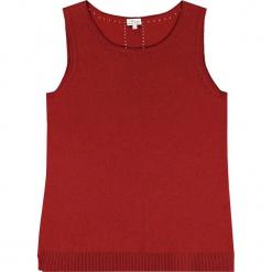 Top kaszmirowy w kolorze czerwonym. Czerwone topy damskie marki Ateliers de la Maille, z kaszmiru, z okrągłym kołnierzem. W wyprzedaży za 318,95 zł.