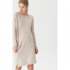 Długi sweter - Kremowy. Białe swetry klasyczne damskie marki House, l. Za 119,99 zł.