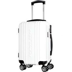 Walizka w kolorze białym - 35 l. Białe walizki marki Travel One, z materiału. W wyprzedaży za 229,95 zł.