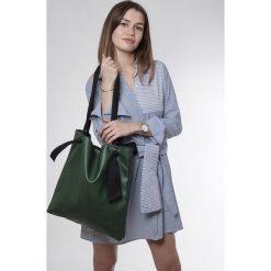 Torba green Ribbon. Zielone torebki klasyczne damskie marki Pakamera, z bawełny. Za 145,00 zł.