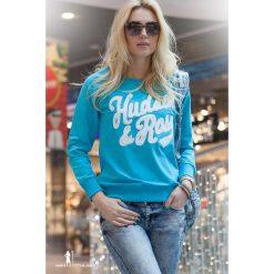 Bluza z naszywką niebieska 200. Niebieskie bluzy damskie Fasardi, l, z aplikacjami. Za 39,00 zł.