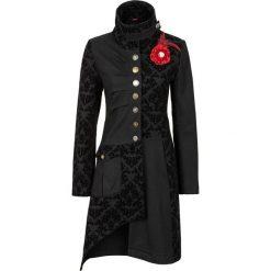 Płaszcz bonprix czarny. Czarne płaszcze damskie bonprix, z aplikacjami, z materiału. Za 319,99 zł.