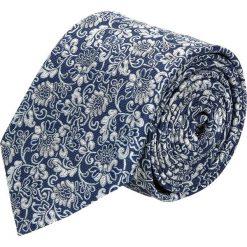Krawaty męskie: krawat platinum granatowy classic 267