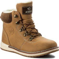 Buty zimowe chłopięce: Trapery ACTION BOY – CP40-7000J Miodowy