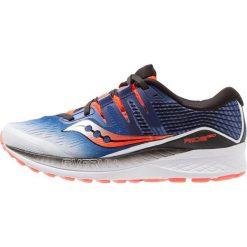Saucony RIDE ISO Obuwie do biegania treningowe white/blue/vizired. Niebieskie buty do biegania męskie Saucony, z materiału. Za 589,00 zł.