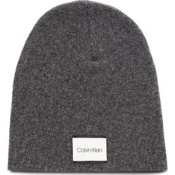 Czapka CALVIN KLEIN - Classic Beanie M K50K504118 008. Szare czapki męskie Calvin Klein, z kaszmiru. Za 179,00 zł.