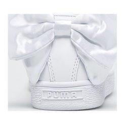 Puma - Buty Basket Bow. Szare buty sportowe damskie marki Puma, z gumy. W wyprzedaży za 319,90 zł.