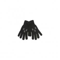 Rękawiczki damskie zimowe gładkie, z cyrkoniami. Czarne rękawiczki damskie TXM, na zimę. Za 12,99 zł.