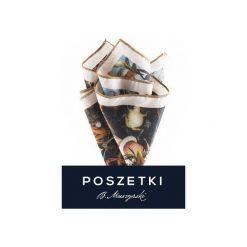 """Poszetka """"UPADEK ZBUNTOWANYCH ANIOŁÓW"""". Brązowe poszetki męskie B.muszyński, z syntetyku. Za 80,00 zł."""