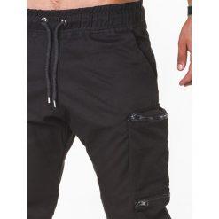 SPODNIE MĘSKIE JOGGERY P706 - CZARNE. Czarne joggery męskie Ombre Clothing. Za 99,00 zł.