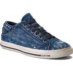 Tenisówki DIESEL - Exposure Low I Y00321-P1655-T6067 Indigo. Niebieskie tenisówki męskie Diesel, z gumy. W wyprzedaży za 379,00 zł.