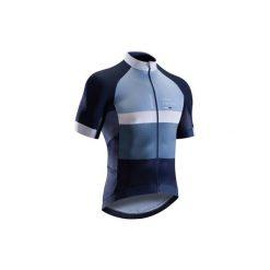 Koszulka krótki rękaw na rower szosowy ROADRACING 500 męska. Białe odzież rowerowa męska marki KIPSTA, z elastanu. W wyprzedaży za 149,99 zł.