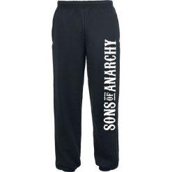 Sons Of Anarchy Logo Spodnie dresowe czarny. Czarne spodnie dresowe męskie marki Sons Of Anarchy, z nadrukiem, z dresówki. Za 121,90 zł.