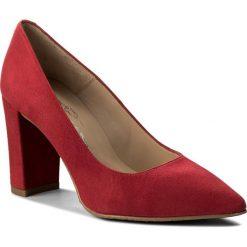 Półbuty BRENDA ZARO - T2207  Red. Czerwone creepersy damskie Brenda Zaro, z materiału, eleganckie, na obcasie. W wyprzedaży za 229,00 zł.