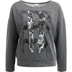 Bluzy rozpinane damskie: Deha LONG SLEEVE CROP  Bluza dark grey melange