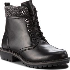 Trapery MARCO TOZZI - 2-26284-31 Black Ant.Comb 096. Czarne buty zimowe damskie marki Marco Tozzi, z materiału. W wyprzedaży za 219,00 zł.