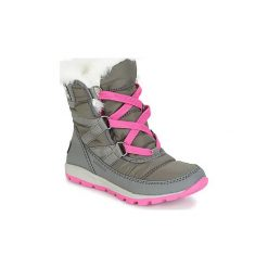 Śniegowce Dziecko Sorel  YOUTH WHITNEY SHORT LACE. Szare buty zimowe chłopięce Sorel. Za 264,00 zł.