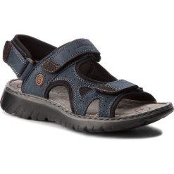Sandały męskie skórzane: Sandały LASOCKI FOR MEN – MI18-893 Granatowy