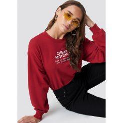Cheap Monday Bluza Get Sweater - Red. Czerwone bluzy rozpinane damskie Cheap Monday, z nadrukiem. Za 181,95 zł.