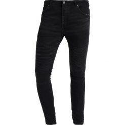Jeansy męskie: Brave Soul BIKER Jeans Skinny Fit charcoal grey