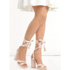 Rzymianki damskie: Beżowe Sandały Dancing Queen
