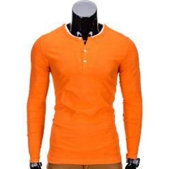 T-shirty męskie: LONGSLEEVE MĘSKI L63 – POMARAŃCZOWY
