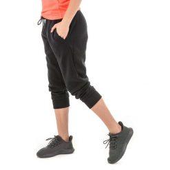 Spodnie dresowe damskie: Under Armour Spodnie damskie Slim leg Fleece Crop czarne r. S (1320610-001)