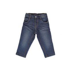 Anna & tom Mini Boys Jeans Spodnie denim blue. Niebieskie chinosy chłopięce anna & tom, w paski, z bawełny. Za 32,00 zł.
