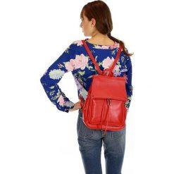 Plecaki damskie: Skórzany plecak damski AMBER czerwień cherry